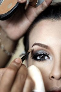 Application Of Makeup For The Eyes