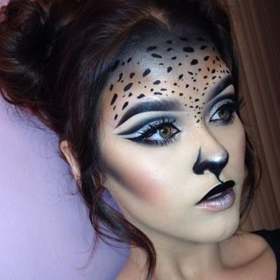 Cat Face For Halloween With Makeup