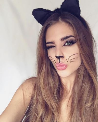 Easy Cat Face Makeup For Halloween