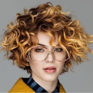 Short Wavy Curly Hairstyle